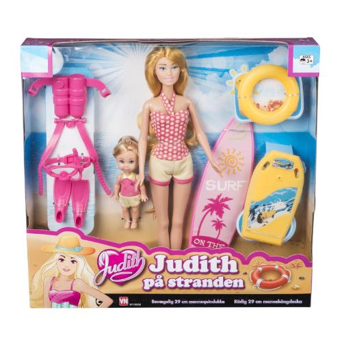 Judith á ströndinni