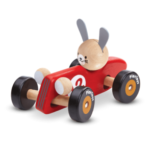 Plan toys kanína í kappakstursbíl